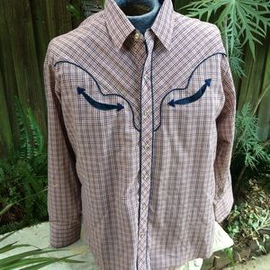 Kenny Rogers Plaid Western Shirt